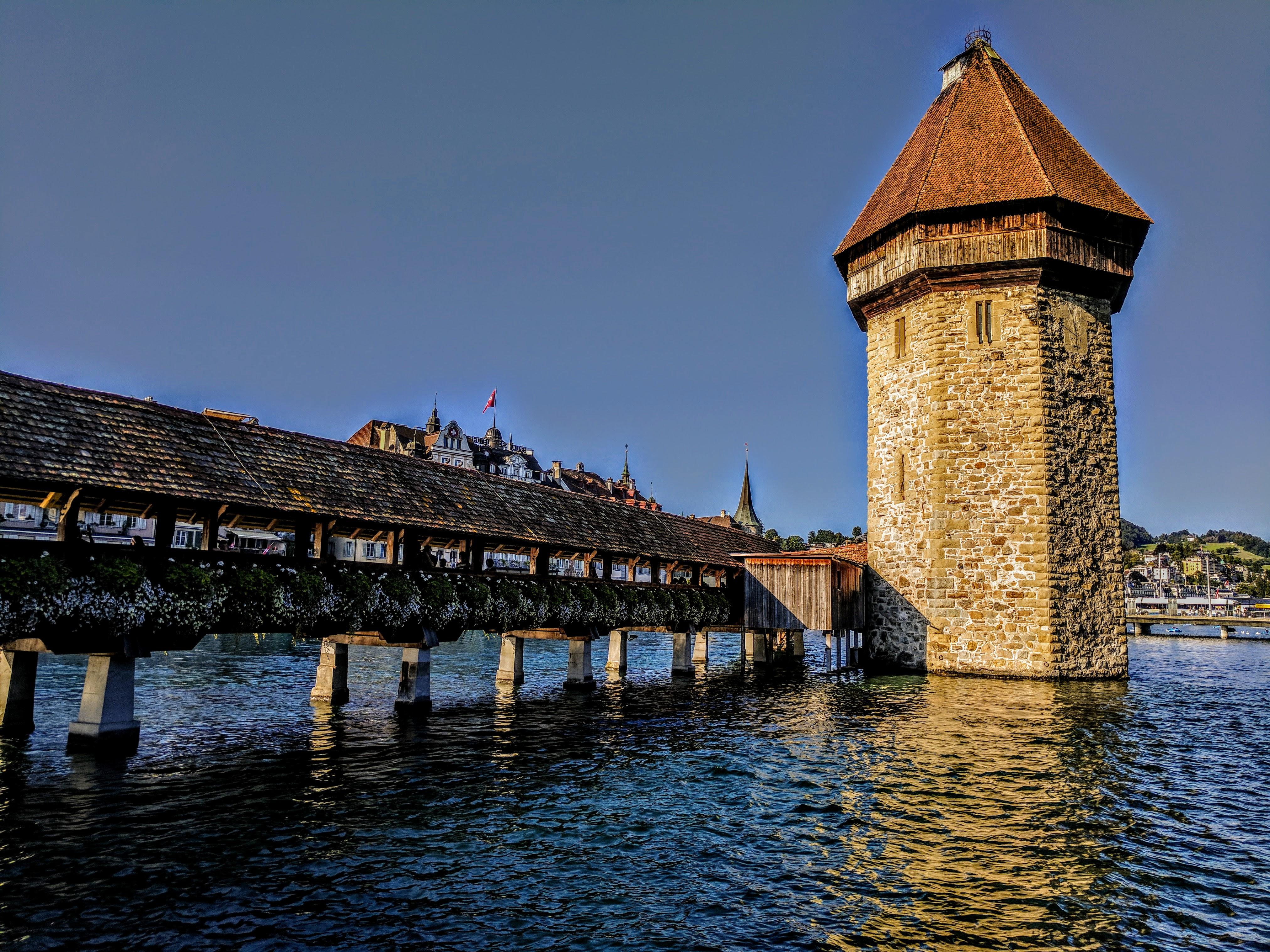 Chapel Bridge in Lucerne Switzerland