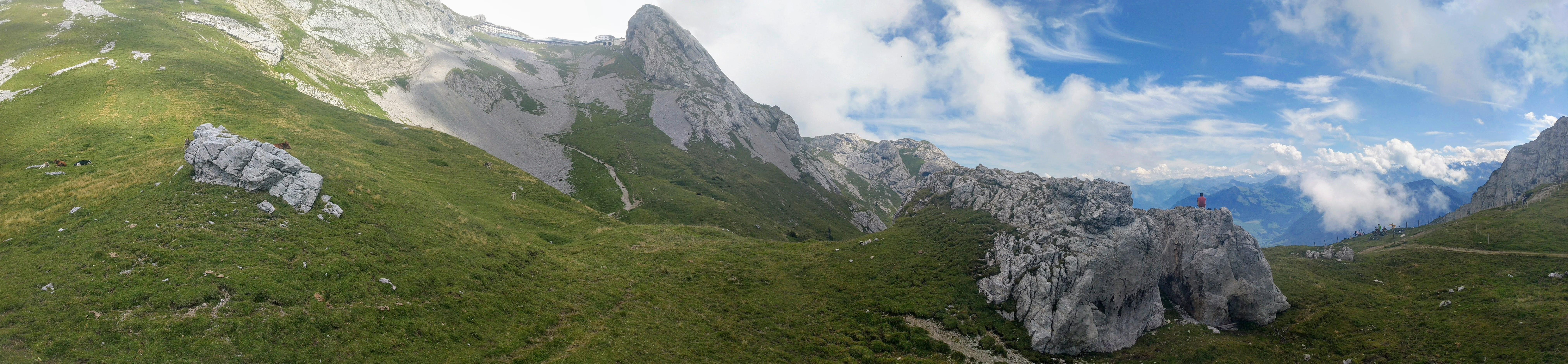 View of land below Mt Pilatus